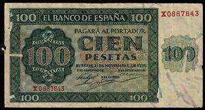 Billete de España 100 pesetas 1936 Burgos X0887843