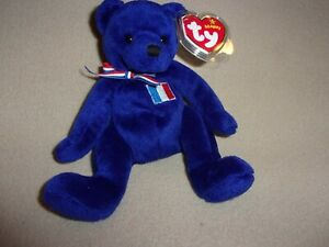 """TY MWMT MASCOTTE THE BEAR BEANIE BABY-7""""- EUROPE EXCLUSIVE- FOR THE COLLECTOR"""