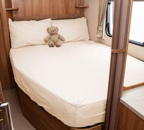 Walnut Whip White Swift Challenger 620 Caravan Fitted Sheet Ivory