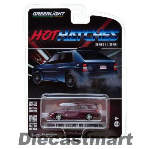 Greenlight 1:64 1994 Ford Escort Rs Cosworth Monte Carlo Joya Violeta 47080D