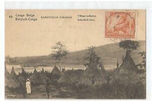 AFRIQUE-CONGO-BELGE-BANZYVILLE-VILLAGE-INDIGENE