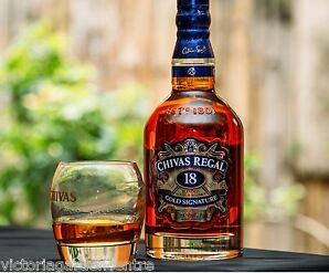 Chivas Regal Gold Whisky Branded Glass - Bar/Home/Collectable FREE POSTAGE