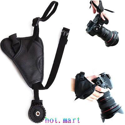 Leather Hand Wrist Grip Strap For Nikon D90 D7100 D300 D3200 D5200 D5300 D750 DF