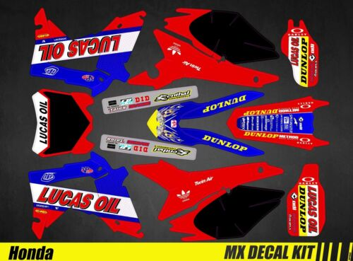 Lucas Oil Kit Déco Moto pour Mx Decal Kit for Honda CRF
