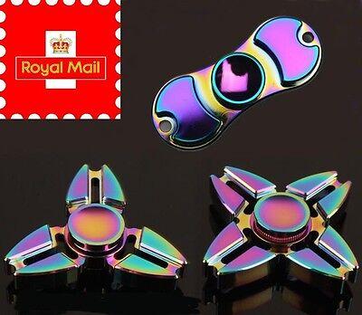 4 pics métal RAINBOW Fidget Spinner main Focus SPIN aluminium stress Toy Titane