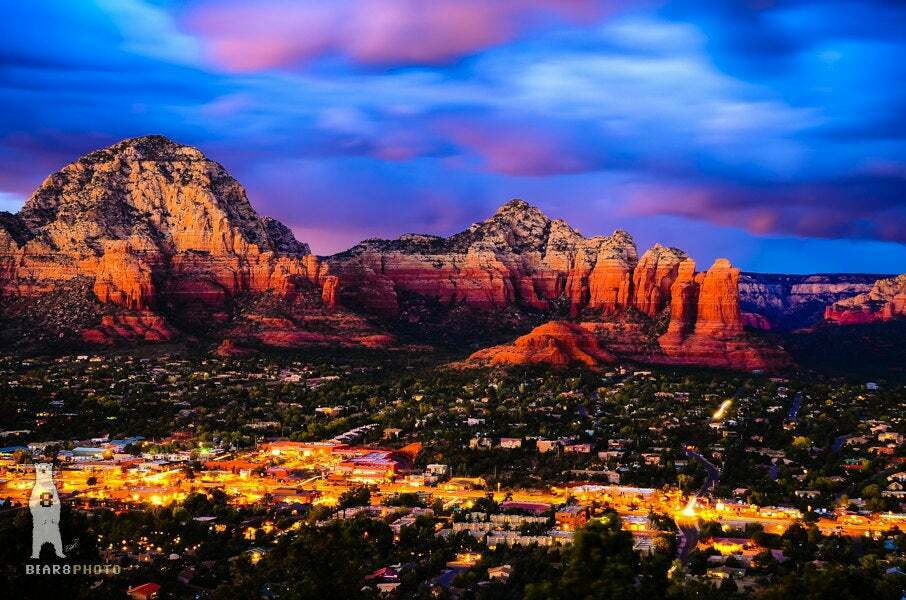Sedona, Arizona at Night - Photography Prints - rot Rocks Decor - Southwestern