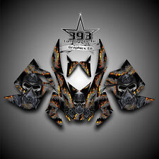 SKI-DOO REV XP SNOWMOBILE SLED GRAPHICS DECAL WRAP STICKER KIT TOXIC BLACK