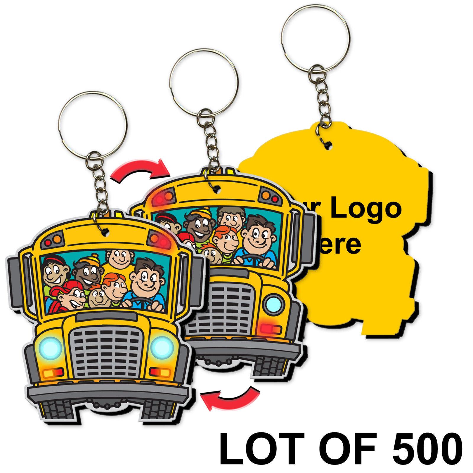 Retour à l'école Porte-clés Personnalisé School Bus 3D Lenticulaire  KCEVA -270-500