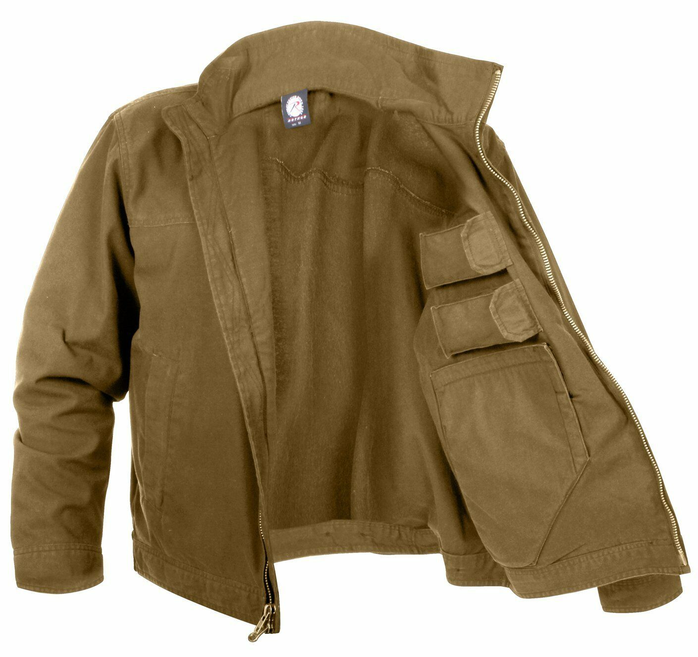 Rothco 3801 Lightweight Concealed Carry Jacket - Coyote braun