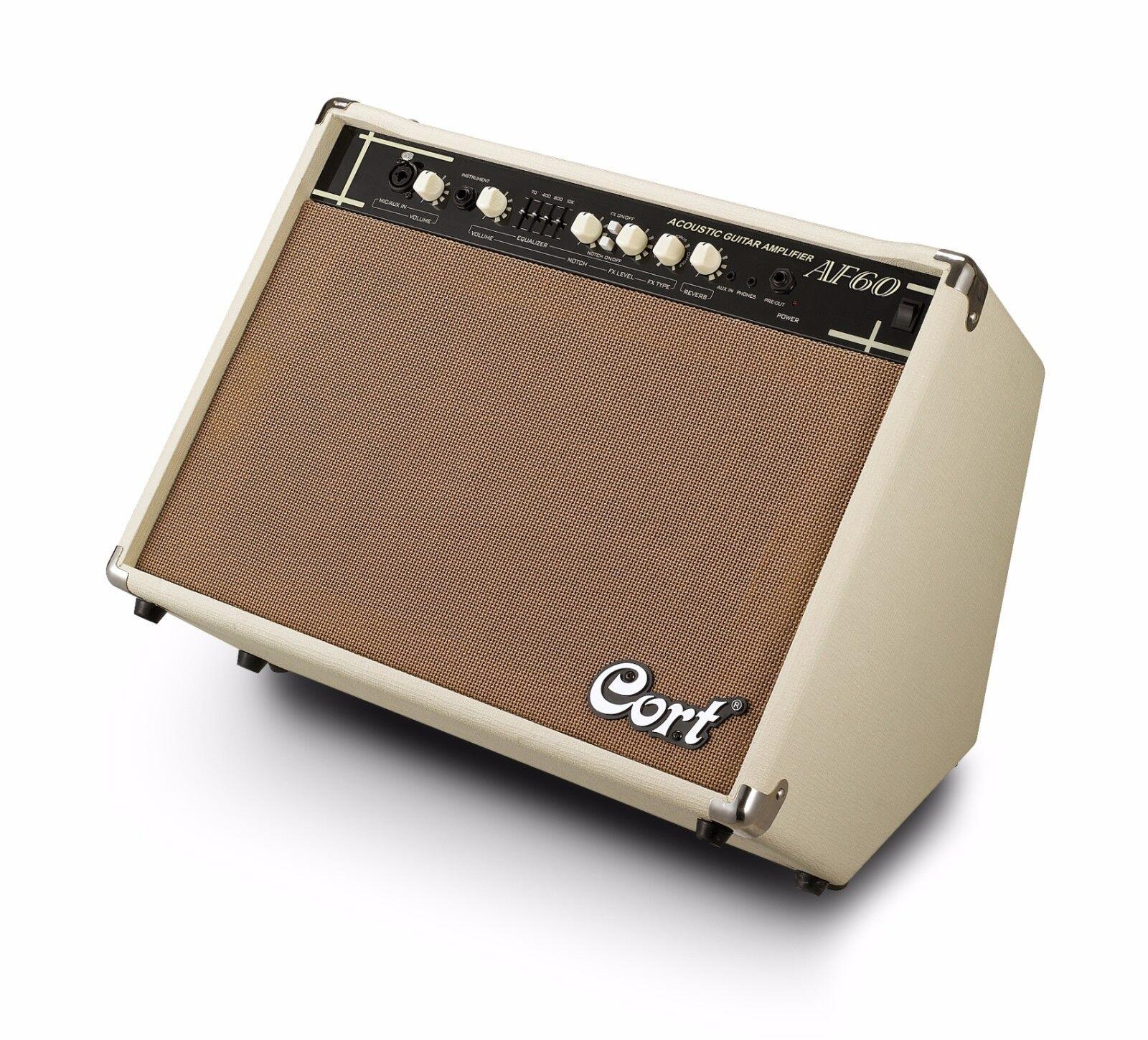 Cort af60 guitarras acústicas amplificador guitarras  acústicas combo, 2 canal AMP  nuevo  guitarras 88583e