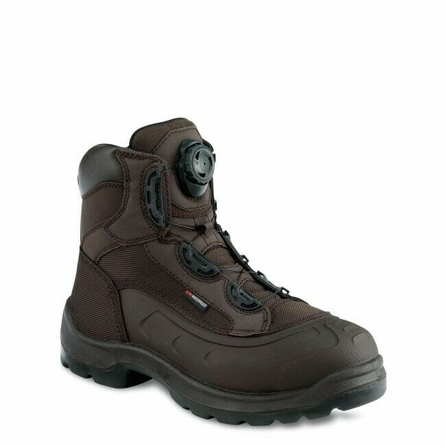 rot Wing 3231 Mens 6 Inch Waterproof Metal Boa Lace Safety Stiefel braun