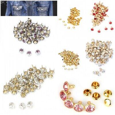 10pcs x 10mm Leather Crafts Work Diamante Rivets Button for Shoes Bags Bracelet