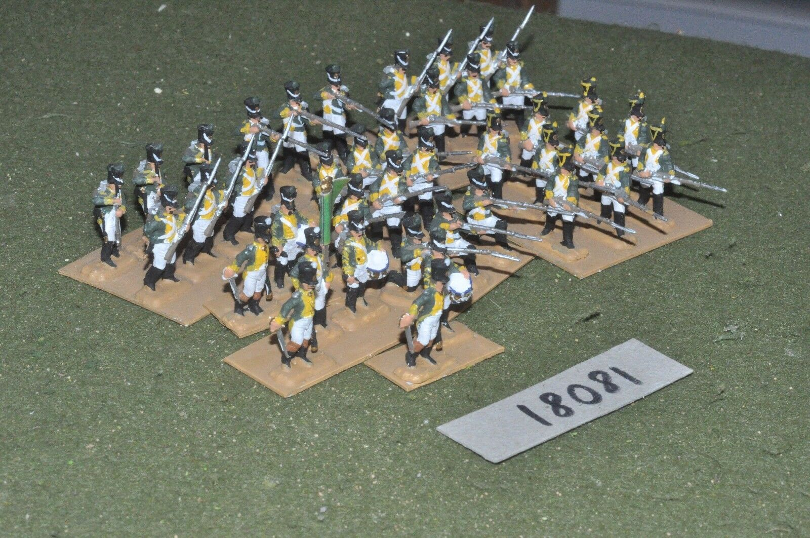 20mm napoleonic   french - plastic allied irish infantry 40 figs - inf (18081)