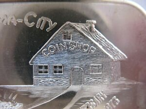 1- TROY OZ RARE COIN-A-RAMA-CITY HAWTHORNE CA. 10TH ANNIVERSARY SILVER .999+GOLD