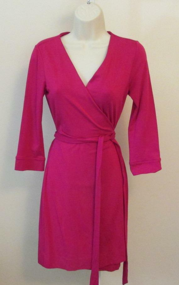 Diane von Furstenberg New Julian two mini Rosa Dhalia Dahlia knit wrap dress DVF