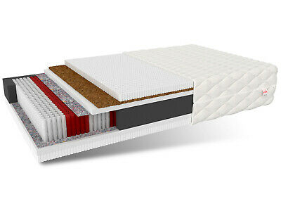 Matratze Taschenfederkern Taschenfederkernmatratze Kokosnuss Latex Größe wählbar