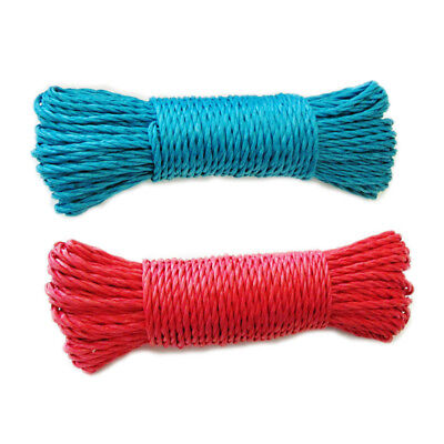 100ft Plastic Clothes Line Household Outdoor Laundry Rope String RED or BLUE