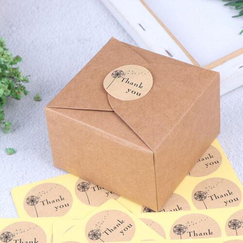 120 un Sello de regalo de agradecimiento Sello Pegatinas Adhesivo para panadería casera Regalo /_ AA