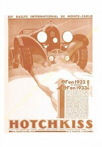 Sepia Postcard Ads Advertising Automobile Hotchkiss Edit 3615 PUB21