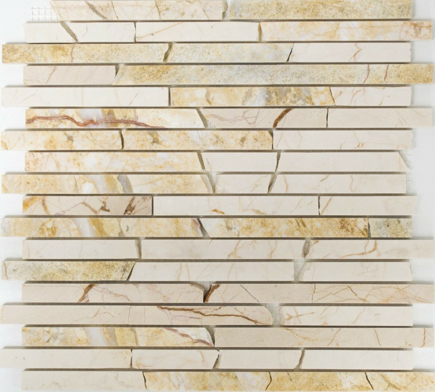 Marmormosaik Verbund golden cream poliert mit Struktur Art:40B-2807 | | | 10 Matten 867644