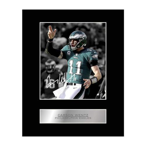 Carson Wentz Signed Mounted Photo Display Philadelphia Eagles #2 NFL Autographed