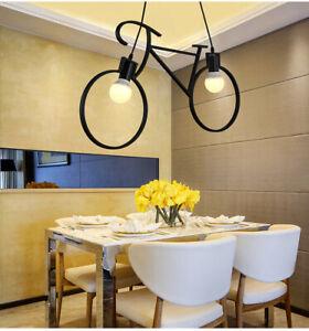 Vintage-Metal-Retro-Chandelier-Iron-Bicycle-Pendant-Light-Lamp-Shade-Modern-UK