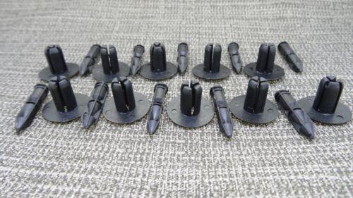 MG BLACK PIN RIVET PUSH IN FASTENER BODY PANEL TRIM CLIP PACK OF 10