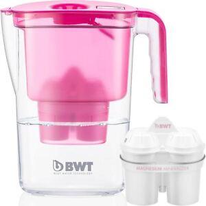 BWT-Caraffa-Filtrante-Acqua-VIDA-Rosa-2-6-litro-con-1-x-Mg2-lunga-120-L-CARTUCCIA