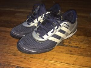 separation shoes d5d18 69d1b Details about Adidas Adi5 Indoor Shoes Soccer Turf Navy And Grey Size 7.5  Men Used