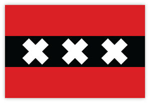 Amsterdam-citta-Netherlands-flag-bandiera-adesivo-etichetta-sticker-15cm-x-10cm
