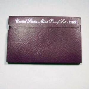 1989-S-PROOF-SET-PENNY-NICKEL-DIME-QUARTER-HALF-US-MINT-5-COIN-SET-89051317001