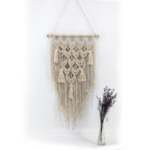 Macrame-Knitted-Rope-Tapestry-Tassel-Bohemian-Woven-Wall-Hangings-Handmade-Decor