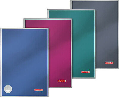 BRUNNEN Notizbuch A4 96 Blatt 10-5599203 Premium Metal Kladde farb NEU sort