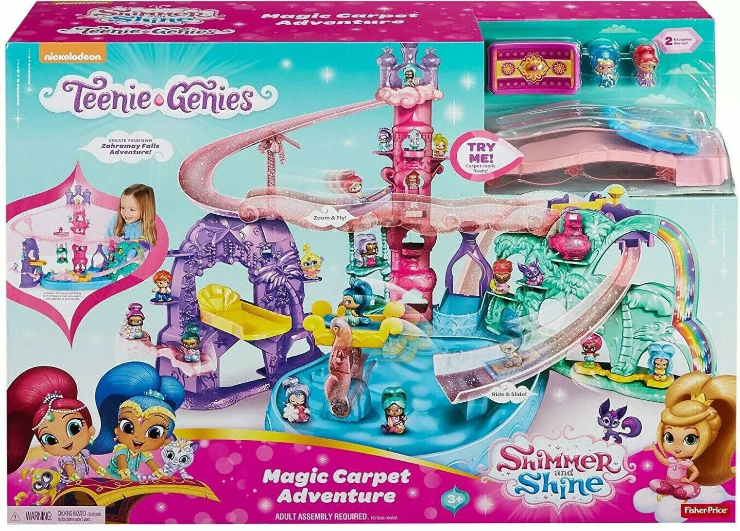 Shimmer And Shine Teenie Genies Magic Carpet Adventure Playset Toy