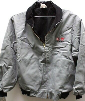 MENS PURINA CATTLE CHOW Denim Jacket L Large 10 oz NEW DUCK FLANNEL LINED USA