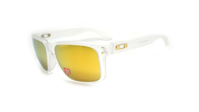 0f1f093247 Oakley Sunglasses Holbrook Shaun White 9102-42 Matte Clear 24k Iridium  Polarized