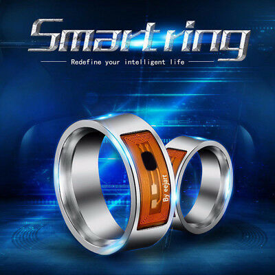 NFC Smart Magic  Ring Wearable For Hawei iPhone Android Stainless Steel Cool