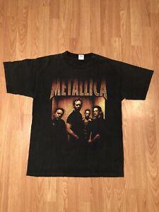 vintage Metallica band heavy metal rock music concert 90 xlarge mens t-shirt