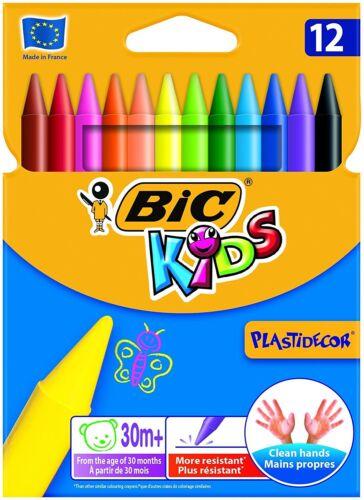 1 von 1 - BIC KIDS Wachsmalkreide Plastidecor, 12er Kartonetui