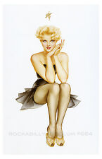 Art Deco//Art Nouveau Poster//Print//Rolf Armstrong//Dream Girl Nude in Nylons 11x14