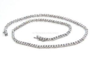 vendita calda online 3bbb0 79c61 Dettagli su NALBORI collana donna collier tennis argento 925 zircone bianco  brillante 40 cm