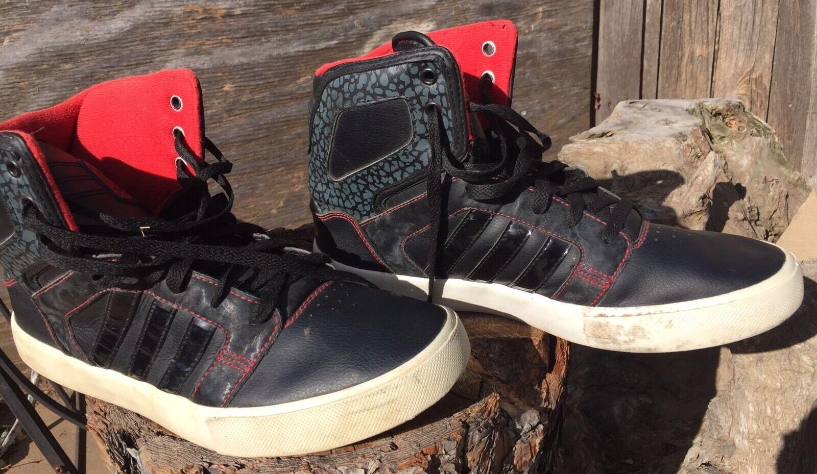 selten!bei adidas rot neo - schwarz / rot adidas vom original basketball - schuhe der größe 9, mitte aef6c9