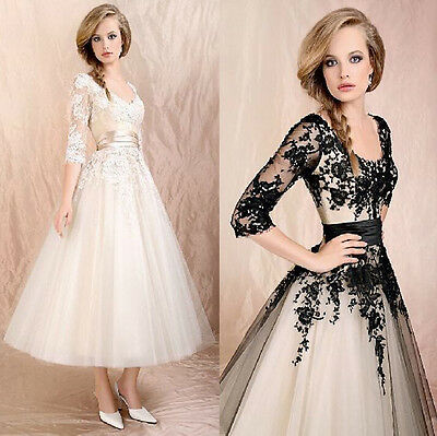 Women's Wedding Dress Lace Prom Ball Cocktail Party Bridal Formal Evening gown