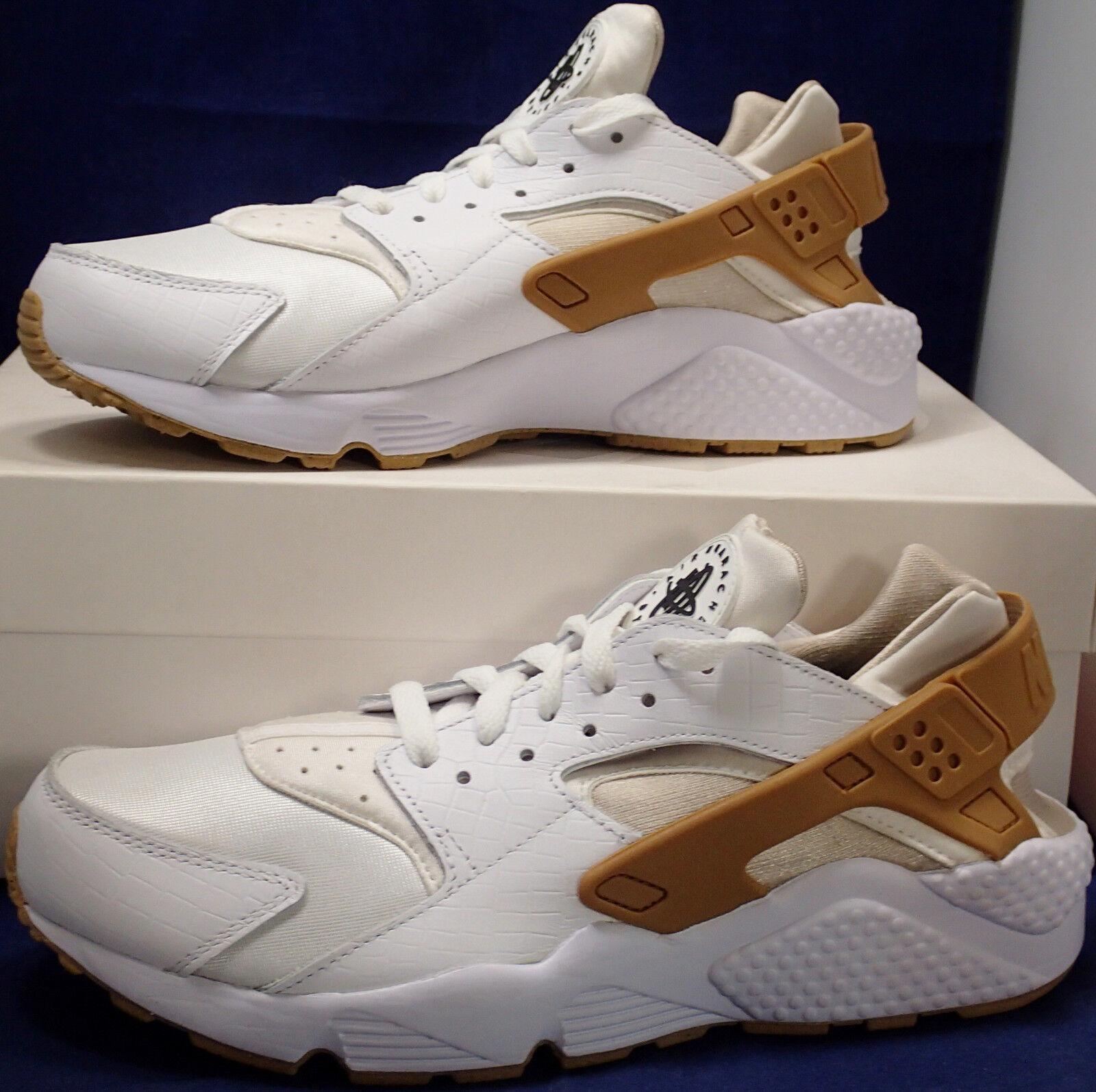 85e692e1323 Womens Nike Air Huarache Run iD Croc White White White SZ 11 Mens SZ 9.5 (