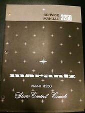 Original Marantz Model 3250 Stereo Control Console Service Manual