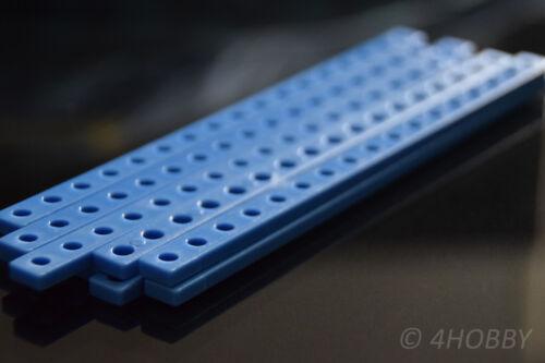 10 Kunststoff-Flachstäbe Lochstab 17-Loch 153mm Stab Verbinder Kniehebel