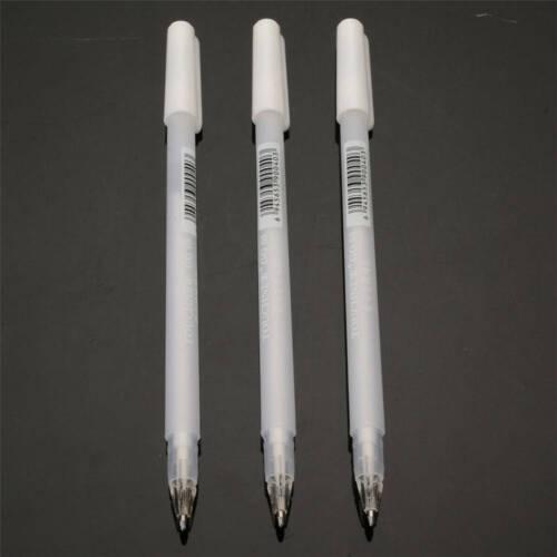 3Pcs White Gel Ink Marker Pen Drawing Sketching Painting Art Fine Tip Pens Tool