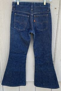 Vintage-Levi-s-Bell-Bottom-Flare-Leg-Jeans-Orange-Tab-W-26-measures-28-L-27