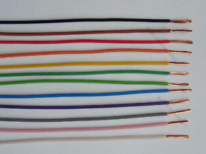 1mm² 16.5 amp car auto marine 80 COLOURS AVAILABLE 12v cable wire 5m lengths