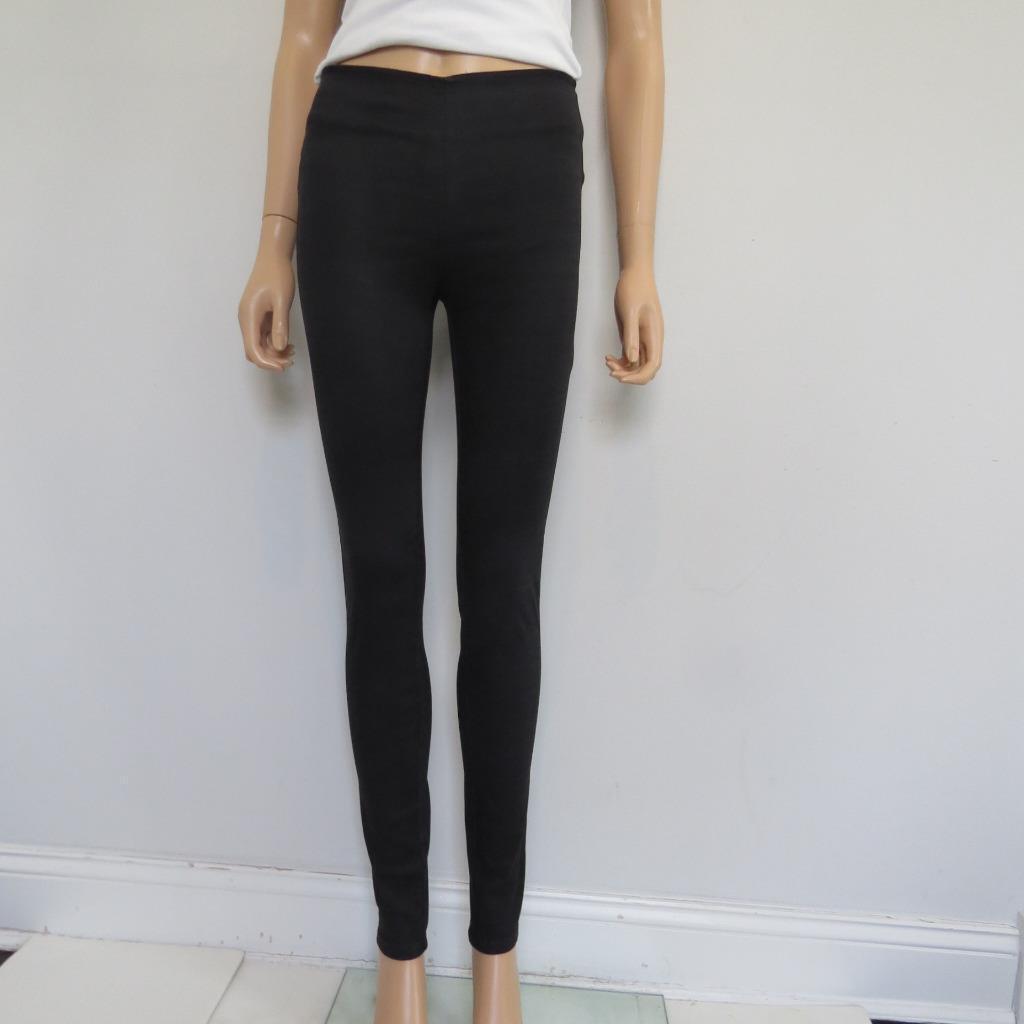 NEUF sans étiquette Veronica Barbe schwarz En Coton Extensible Skinny Pants, sz 0